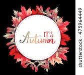 bright round frame in wreath... | Shutterstock . vector #475964449
