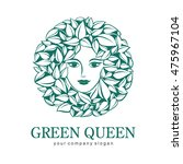 green queen logo. logo for... | Shutterstock .eps vector #475967104