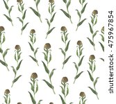 seamless pattern with wild... | Shutterstock . vector #475967854