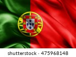 portugal flag of silk with... | Shutterstock . vector #475968148