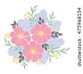 an illustration of flower... | Shutterstock .eps vector #475968154