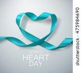 world heart day background.... | Shutterstock .eps vector #475984690
