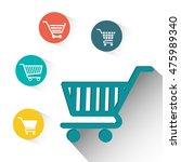 shopping cart shop store sale... | Shutterstock .eps vector #475989340