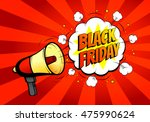 black friday sale banner with... | Shutterstock .eps vector #475990624