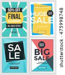 flat design sale flyer template ... | Shutterstock .eps vector #475998748