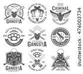 gangster black white emblems of ... | Shutterstock .eps vector #476003734