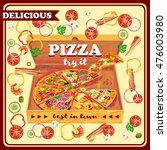 pizza in open box design with...