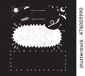hand drawn set of design... | Shutterstock .eps vector #476005990