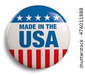 made in the usa round badge... | Shutterstock . vector #476011888