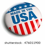 made in the usa round button... | Shutterstock . vector #476011900