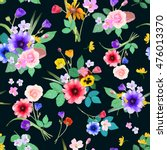 vector illustration of floral... | Shutterstock .eps vector #476013370