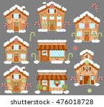 set of cute vector holiday... | Shutterstock .eps vector #476018728