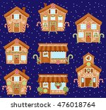 set of cute vector holiday... | Shutterstock .eps vector #476018764