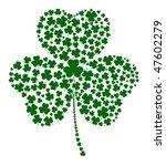 a shamrock made of different...   Shutterstock .eps vector #47602279