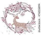 deer in autumn woods   Shutterstock .eps vector #476026894
