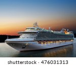 Luxury Cruise Ship Sailing To...