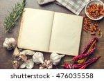 Blank Cookbook And Ingredients...