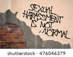 sexual harassment is not normal ... | Shutterstock . vector #476046379