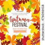 autumn festival background.... | Shutterstock .eps vector #476046418