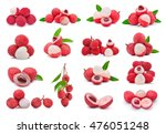 Lychee Isolated On White...