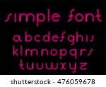 abstract red simple neon font | Shutterstock .eps vector #476059678