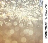 fantastic colorful fireworks... | Shutterstock . vector #476062990