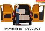 Delivery Van. Doors Can Be...