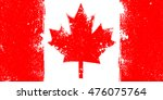 grunge flag of canada with... | Shutterstock .eps vector #476075764