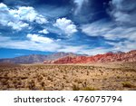 Panoramic View Of Red Rock...