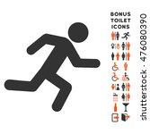 running man icon and bonus man... | Shutterstock . vector #476080390