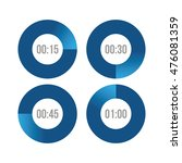 timer icons vector circles | Shutterstock .eps vector #476081359