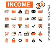 income icons | Shutterstock .eps vector #476087428