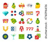 illustration of 25 flat icons... | Shutterstock .eps vector #476096656