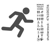 running man icon and bonus male ... | Shutterstock . vector #476100256