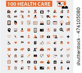 health care icons | Shutterstock .eps vector #476105080
