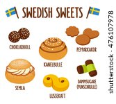 traditional swedish sweets.... | Shutterstock .eps vector #476107978