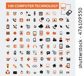 computer technology icons | Shutterstock .eps vector #476109550