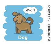 Stock photo dog illustration on isolated background cute cartoon dog domestic animal character speak woof on a 476110609