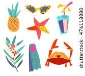 set cartoon patch badges or...   Shutterstock .eps vector #476118880