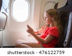 adorable little girl traveling... | Shutterstock . vector #476122759