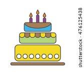 birthday cake isolated on white ...