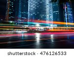 the light trails on the modern... | Shutterstock . vector #476126533