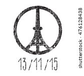 hand drawn peace for paris... | Shutterstock .eps vector #476128438