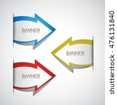 arrows banner set   isolated on ... | Shutterstock .eps vector #476131840