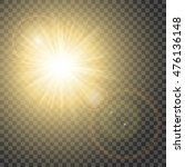 Glowing Sun With Hot Spot And...