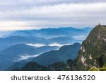 green mountains with sea of...   Shutterstock . vector #476136520