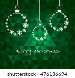 christmas ball made from... | Shutterstock .eps vector #476136694