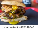 Double Cheeseburger With Fried...