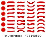 ribbon vector icon set red... | Shutterstock .eps vector #476140510