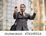 ecstatic happy executive sales... | Shutterstock . vector #476140516